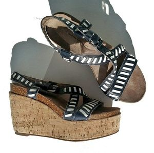 Anthro Pilcro and the Letterpress Wedge Sandals